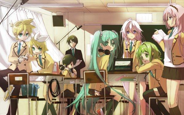 Anime Vocaloid Hatsune Miku Rin Kagamine Len Kagamine Luka Megurine IA GUMI Fondo de pantalla HD | Fondo de Escritorio