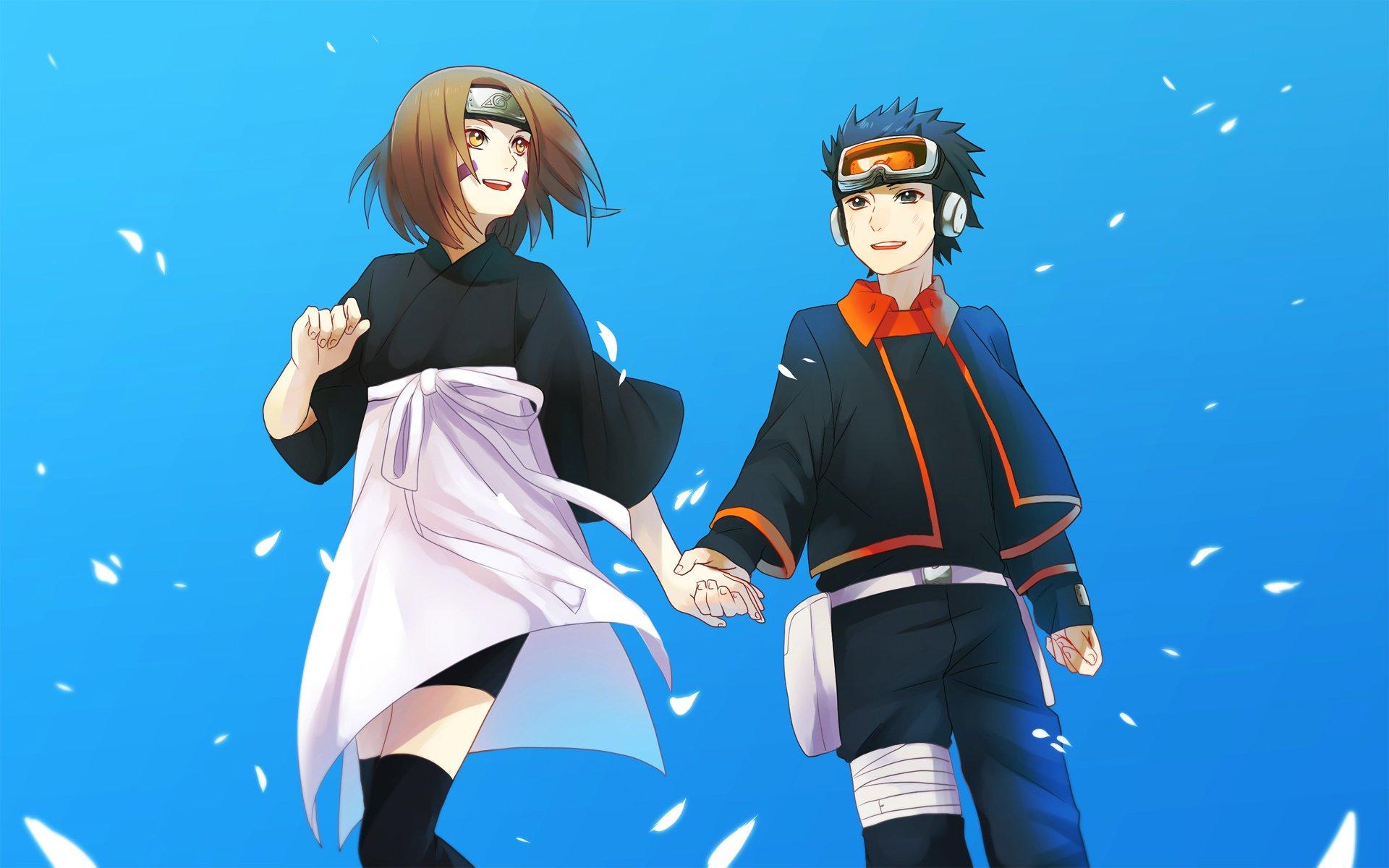 Anime - Naruto  Rin Nohara Obito Uchiha Wallpaper