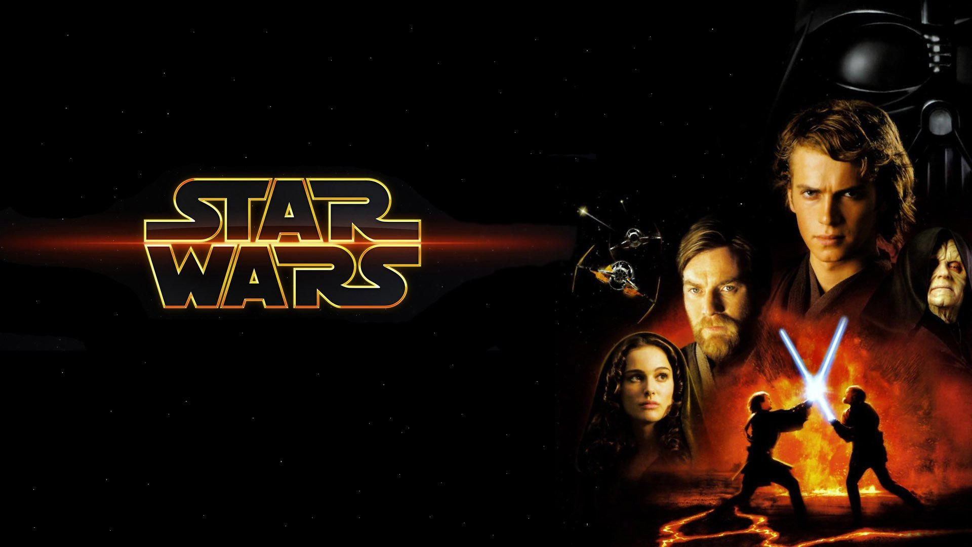 Movie - Star Wars Episode III: Revenge of the Sith  Padmé Amidala Darth Vader Anakin Skywalker Obi-Wan Kenobi Wallpaper