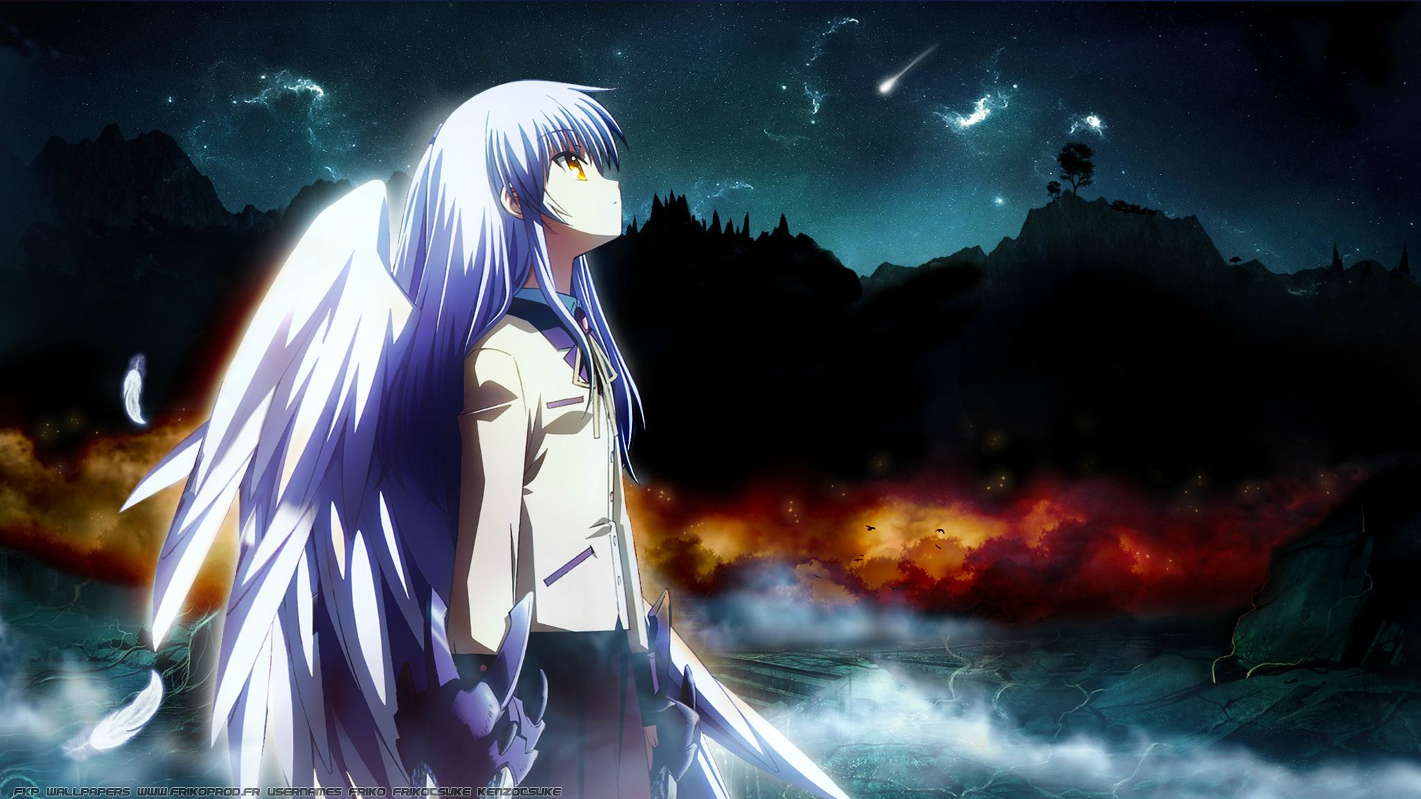 Angel beats full hd wallpaper and background image 2048x1152 anime angel beats kanade tachibana wallpaper voltagebd