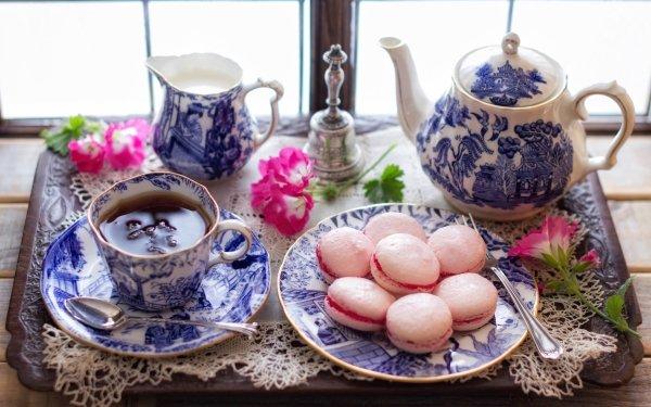 Photography Still Life Tea Teapot Macaron HD Wallpaper | Background Image