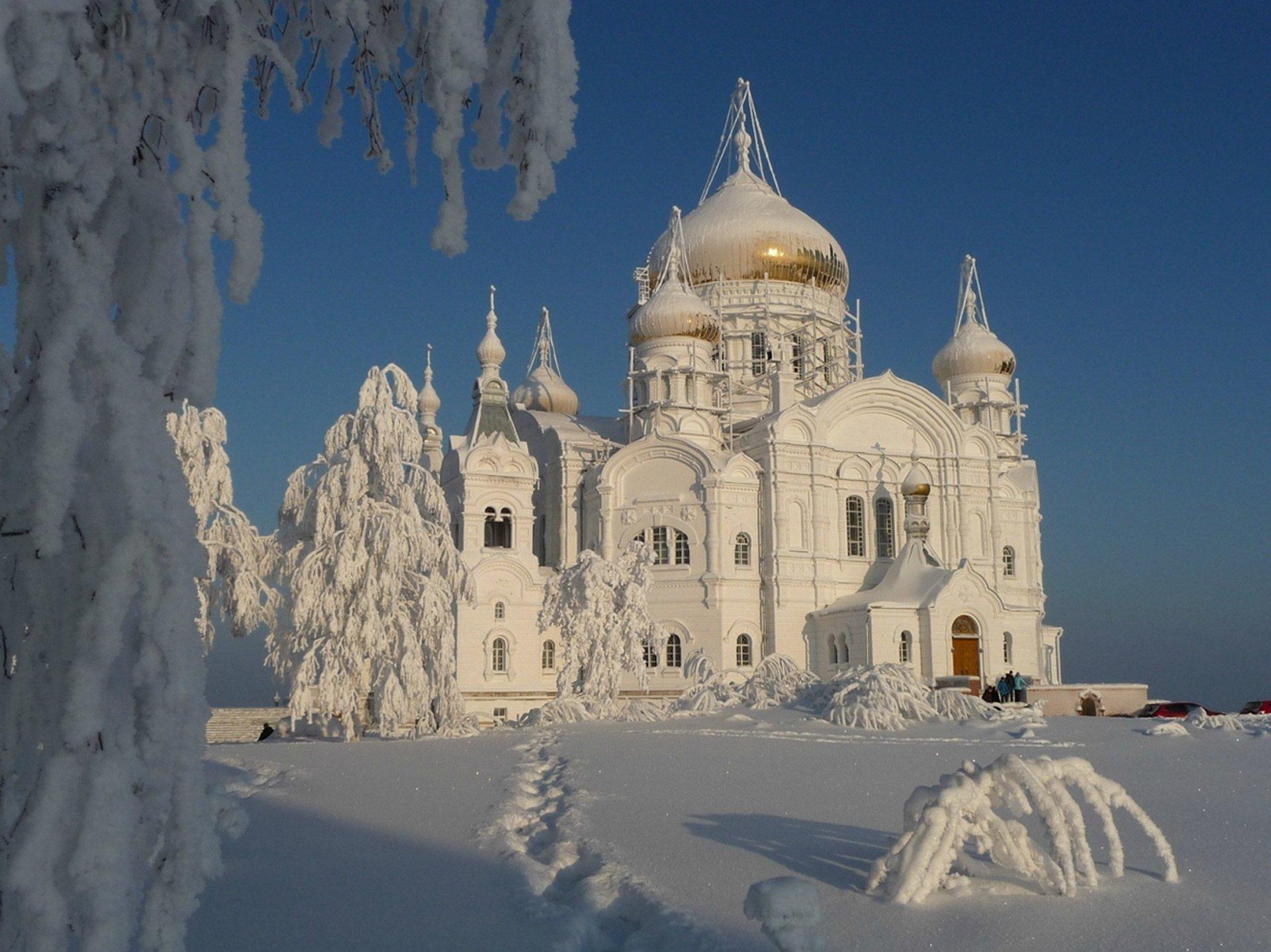 White Russian Church In The Snow Fondo De Pantalla Hd