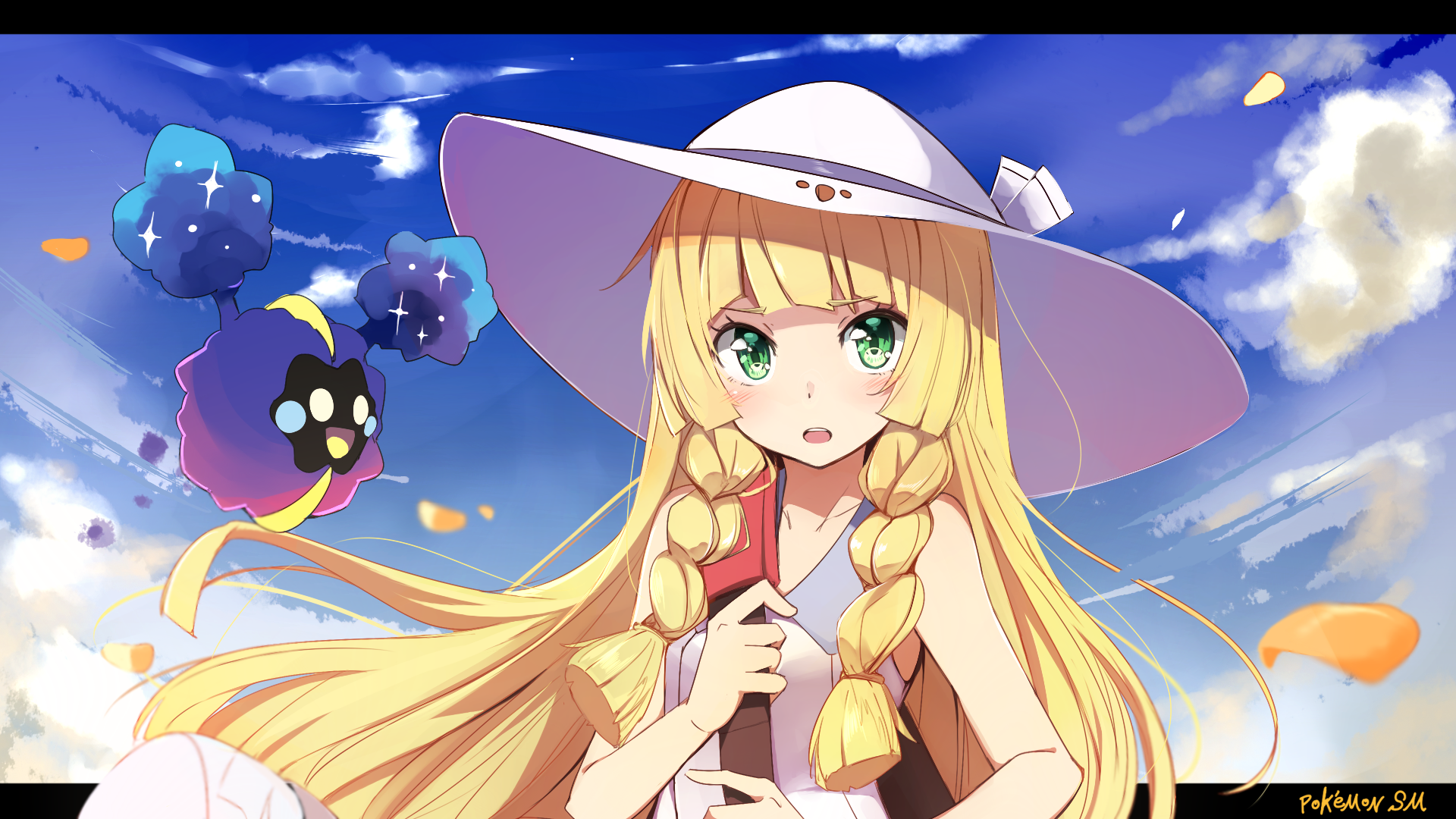 Video Game - Pokémon Sun and Moon  Lillie (Pokemon) Cosmog (Pokémon) Wallpaper