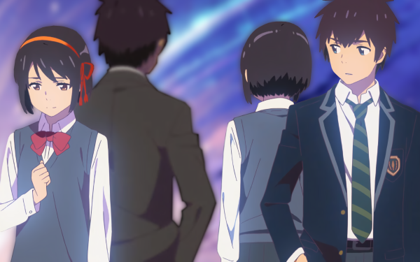 Anime Your Name. Mitsuha Miyamizu Taki Tachibana Kimi No Na Wa. Fond d'écran HD   Image