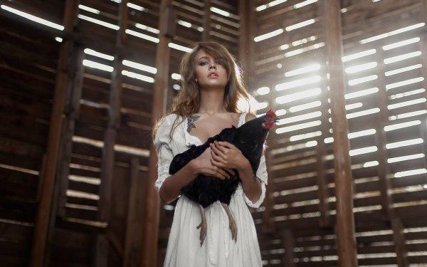 Women Anastasiya Scheglova Models Russia Chicken HD Wallpaper   Background Image