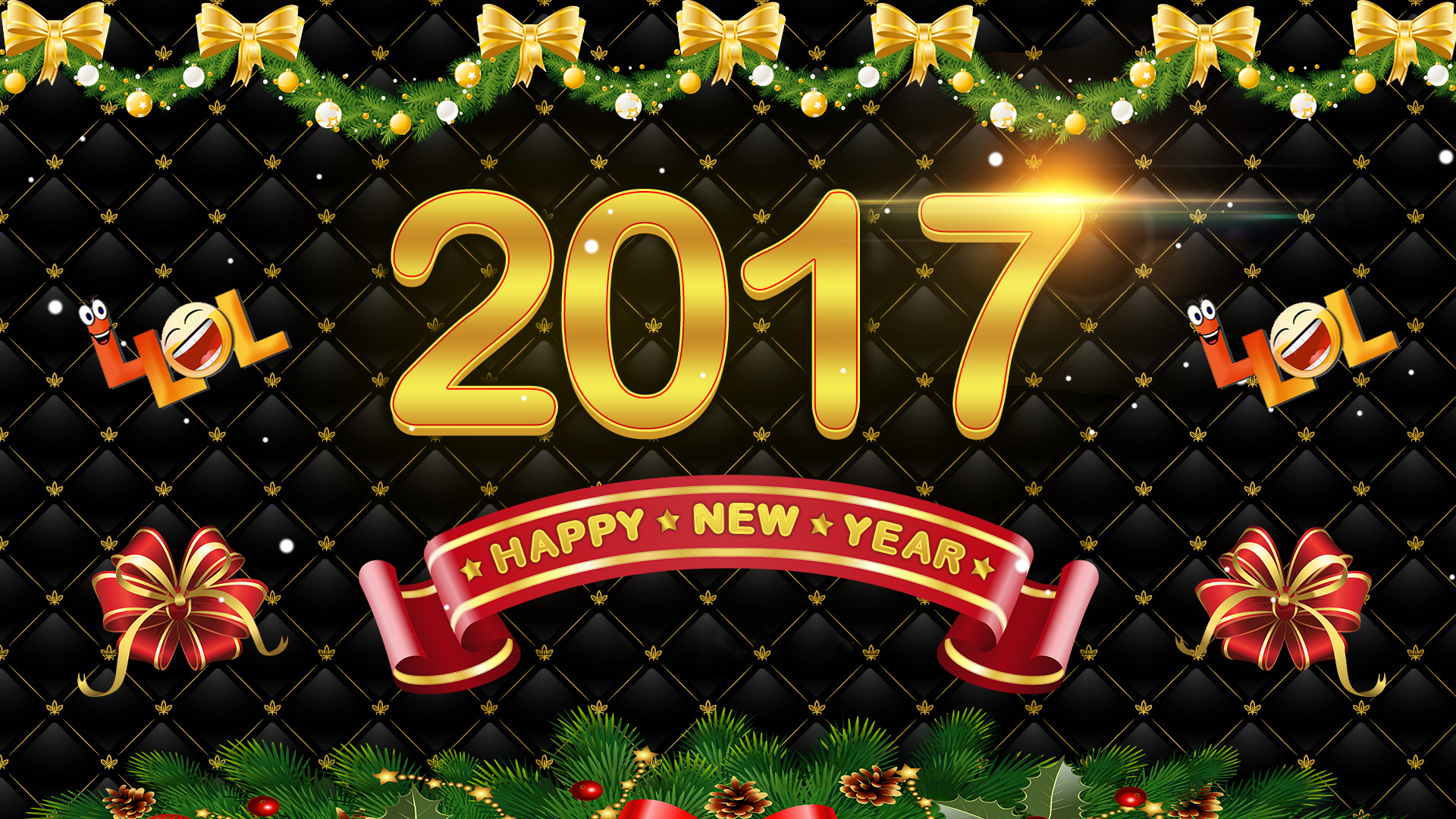 New Year 2017 Hd Wallpaper: New Year 2017 HD Wallpaper