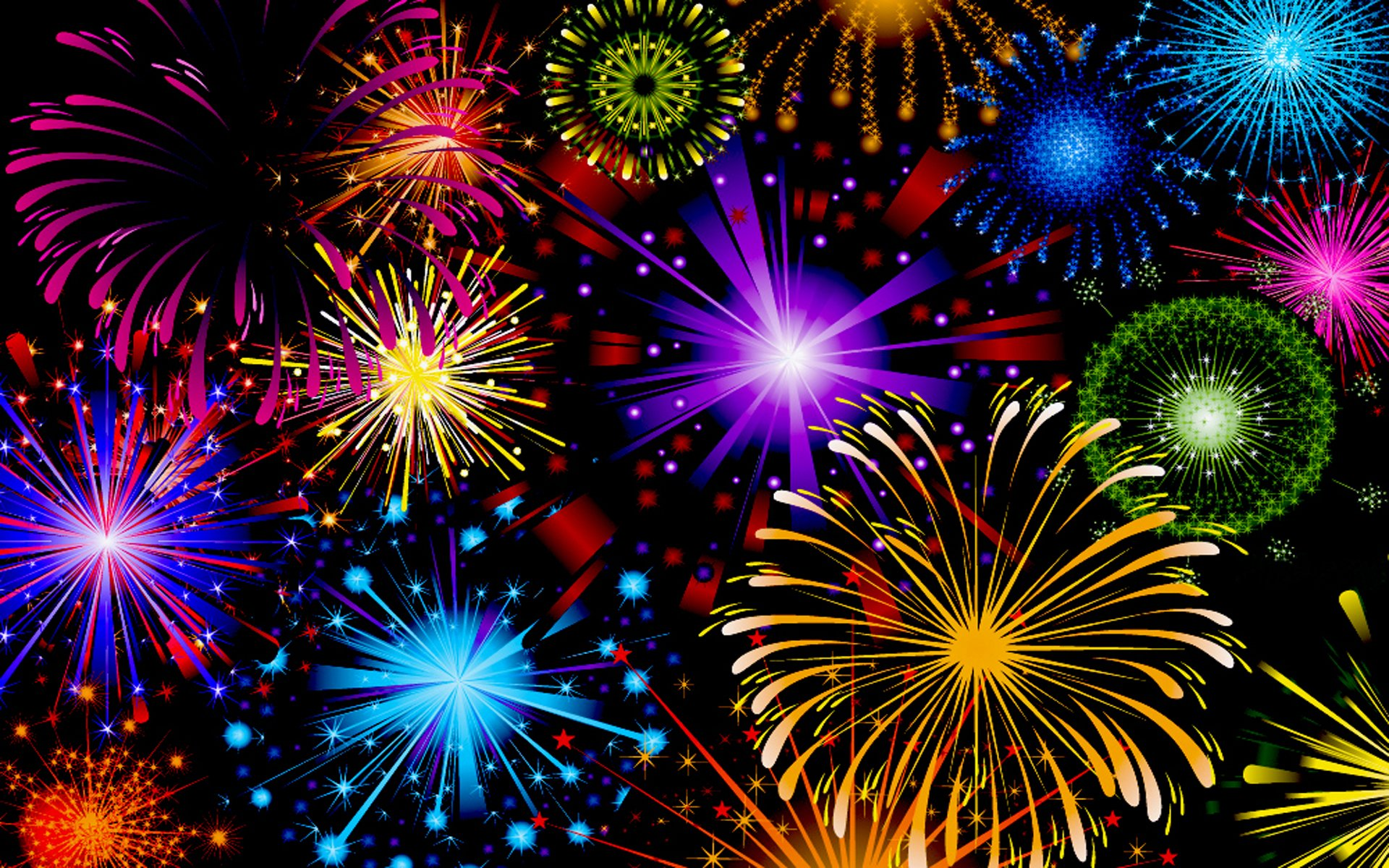 Fireworks Wallpaper Free: Colorful Fireworks HD Wallpaper