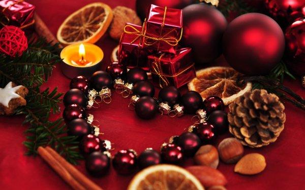 Holiday Christmas Christmas Ornaments Cinnamon Hazelnut Pine Cone Candle HD Wallpaper | Background Image