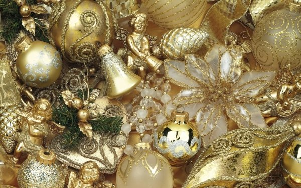 Holiday Christmas Christmas Ornaments Silver HD Wallpaper | Background Image