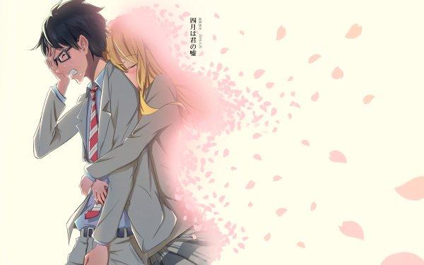 Anime Your Lie in April Kousei Arima Kaori Miyazono HD Wallpaper | Background Image