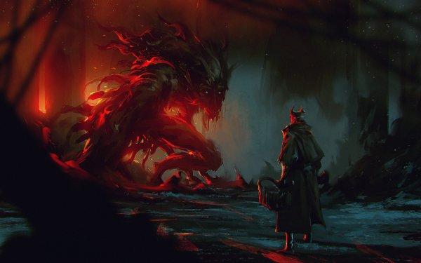 Videojuego Bloodborne Criatura Oscuro Fondo de pantalla HD | Fondo de Escritorio