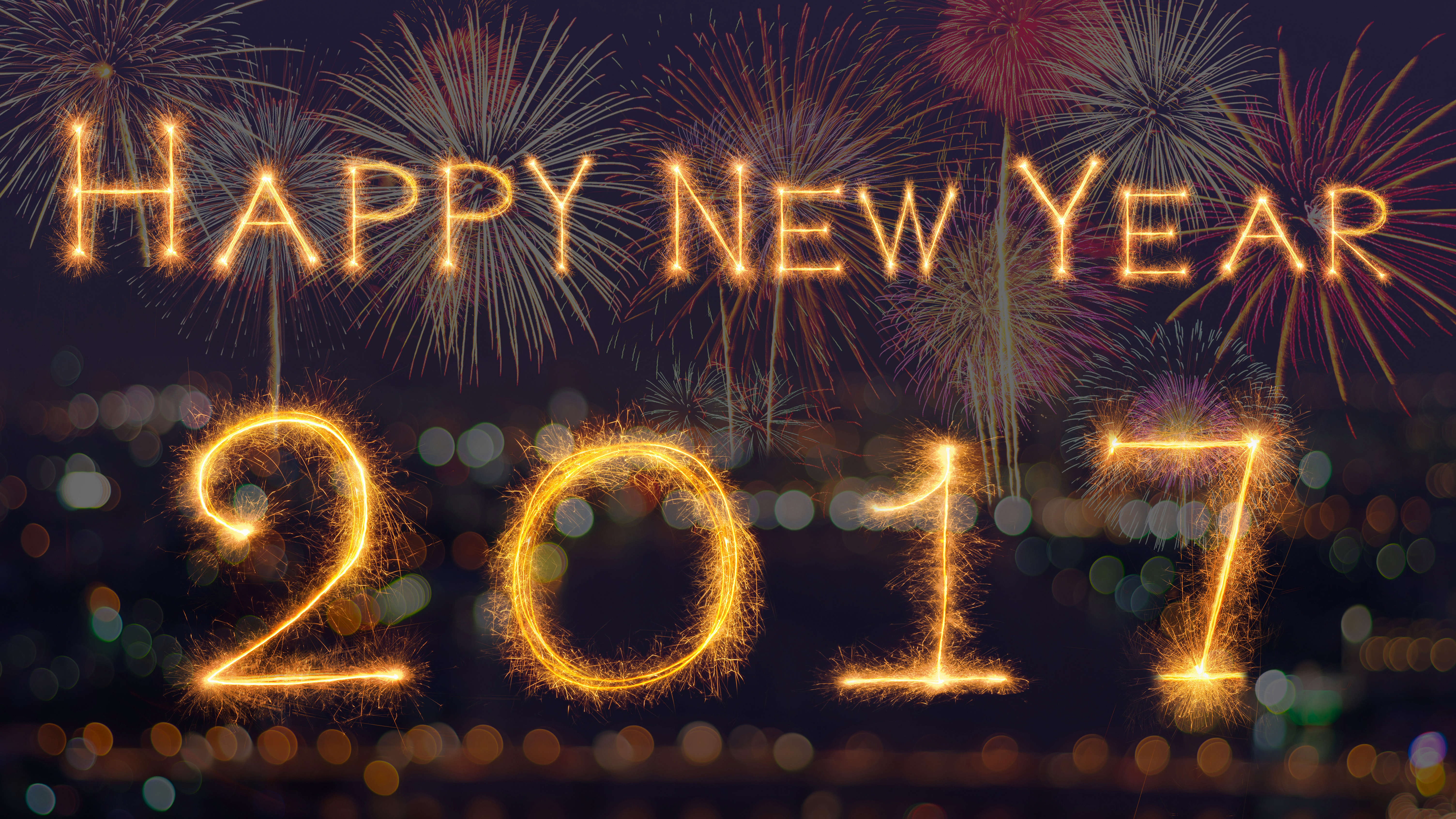 New Year 2017 5k Retina Ultra Hd Wallpaper Background Image