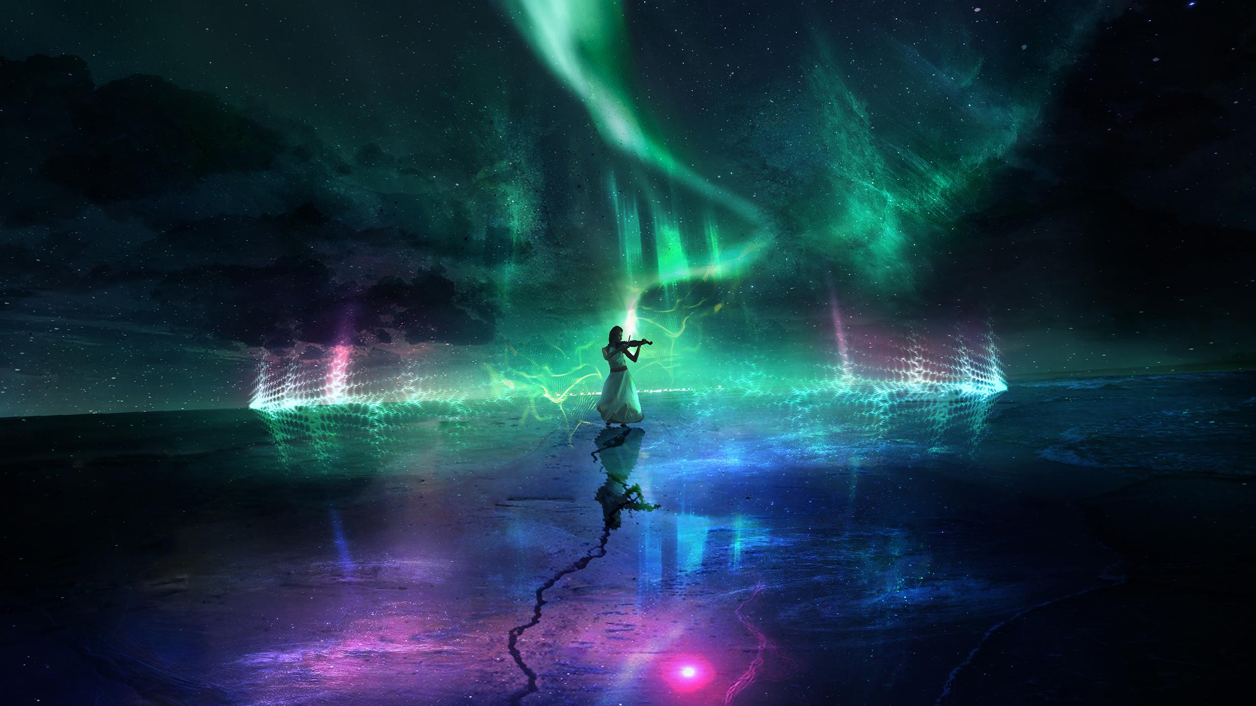 Donne full hd sfondo and sfondi 2560x1440 id 785341 for Aurora boreale sfondo