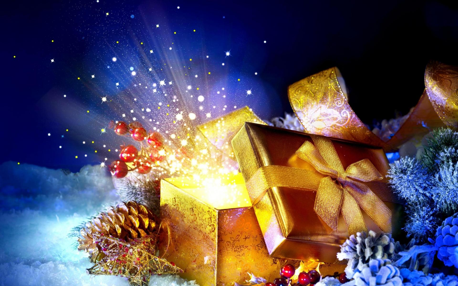 节日 - 圣诞节  礼物 Colorful 节日 壁纸