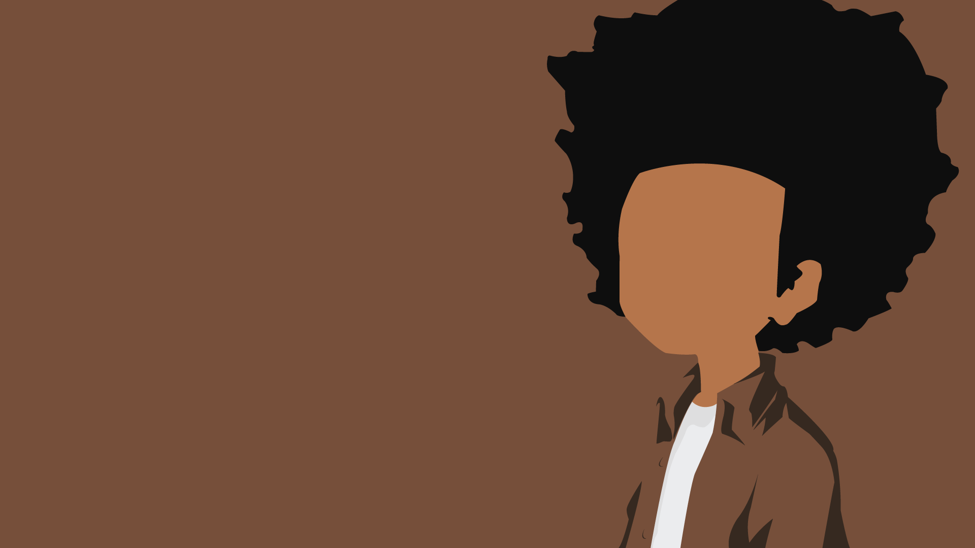 Huey Freeman The Boondocks Minimalist Hd Wallpaper