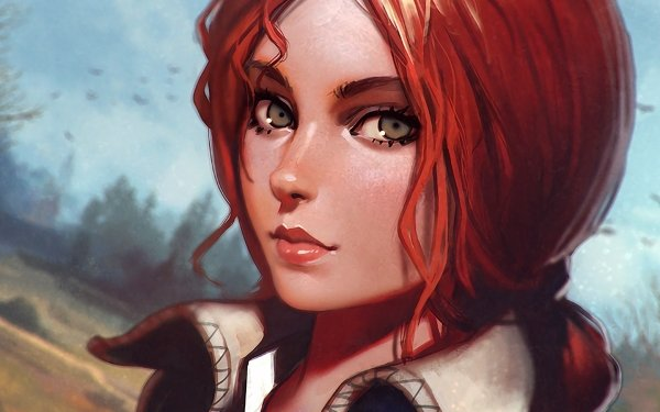 Video Game The Witcher 3: Wild Hunt The Witcher Face Triss Merigold Red Hair HD Wallpaper | Background Image