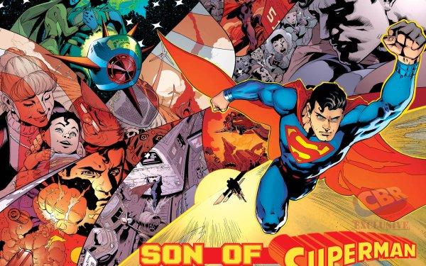 Comics Son Of Superman Superman Jor-El Lara Lor-Van Martha Kent Jonathan Kent Kal-El Clark Kent HD Wallpaper   Background Image