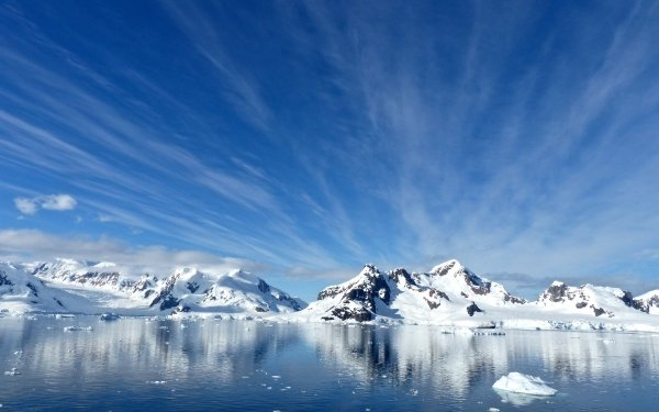 Earth Antarctica Snow Mountain Sky Cloud Paradise Harbor Ice Nature Blue Bay HD Wallpaper | Background Image