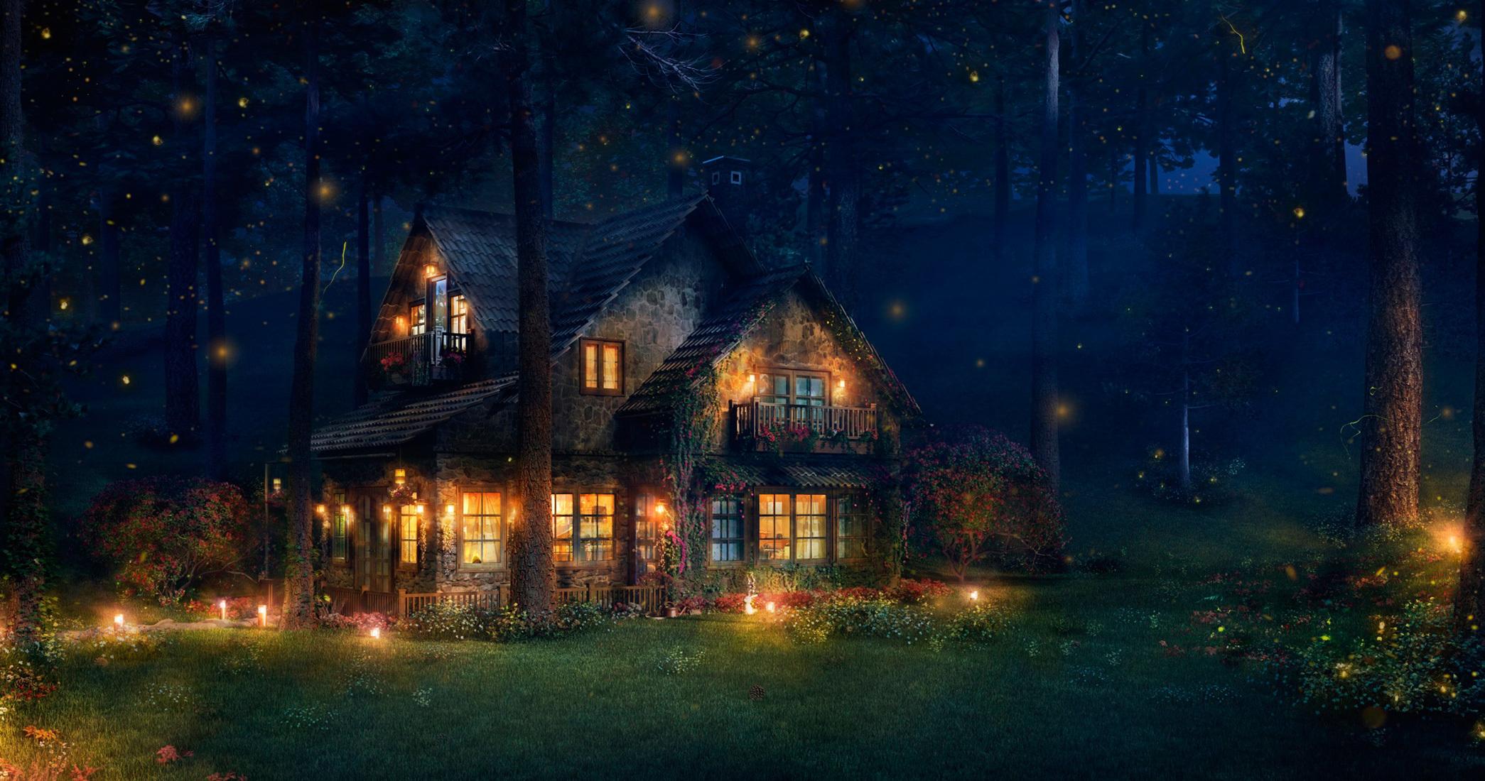 fantasy cottage wallpaper wwwpixsharkcom images