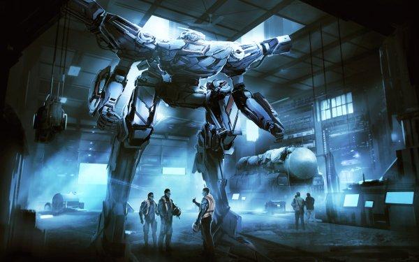 Sci Fi Robot Hangar Futuristic HD Wallpaper | Background Image