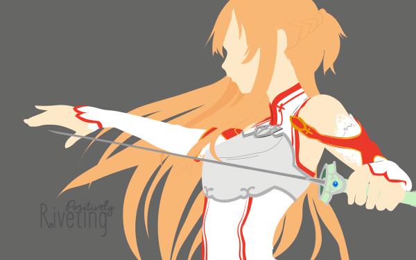 Anime Sword Art Online Asuna Yuuki Minimalist HD Wallpaper   Background Image