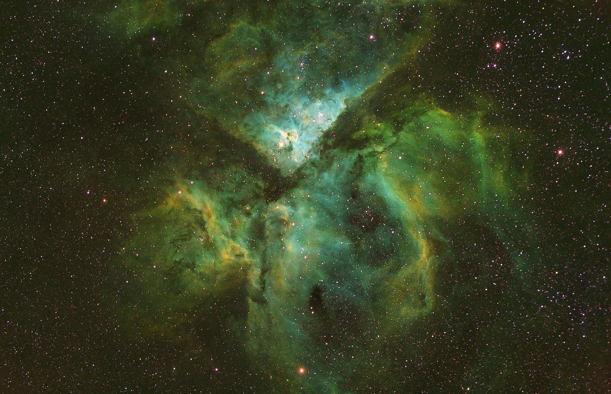 Keyhole Nebula In The Great Carina Nebula Hd Wallpaper Sfondi