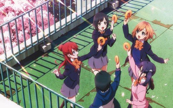 Anime Shirobako Midori Imai Aoi Miyamori Shizuka Sakaki Misa Toudou Ema Yasuhara HD Wallpaper | Background Image