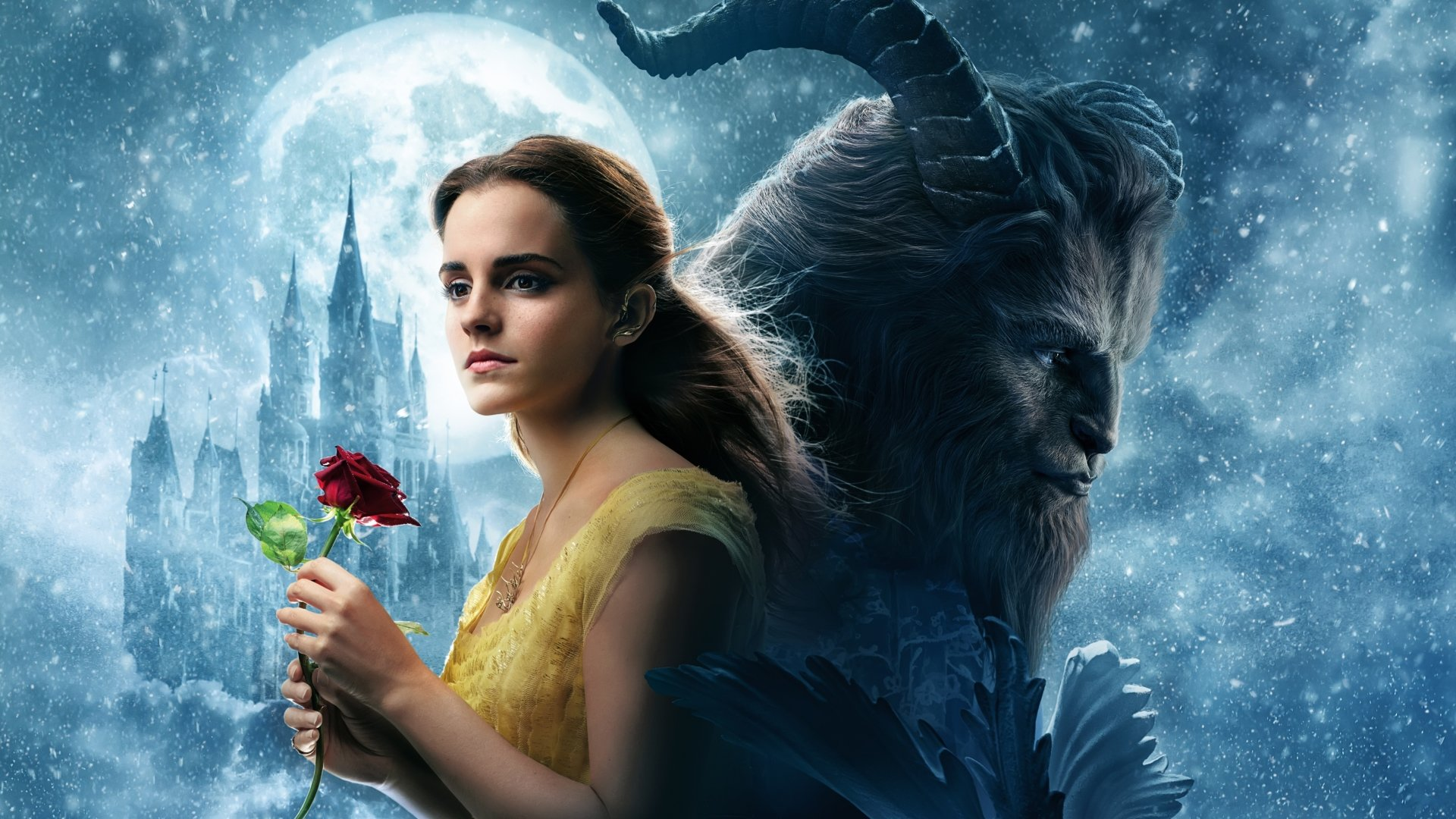 Movie - Beauty And The Beast (2017)  Emma Watson Dan Stevens Wallpaper