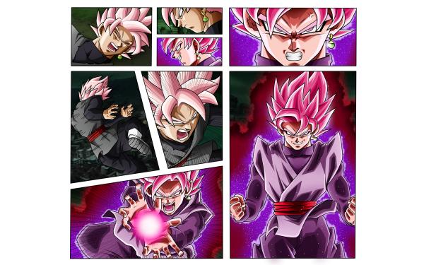 Anime Dragon Ball Super Dragon Ball Black Black Goku SSR Black HD Wallpaper   Background Image