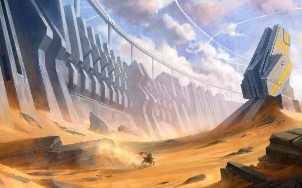 Science Fiction Paysage Désert Sand Mur Fond d'écran HD | Image