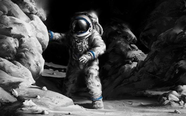 Sci Fi Astronaut Space Suit Rock HD Wallpaper | Background Image