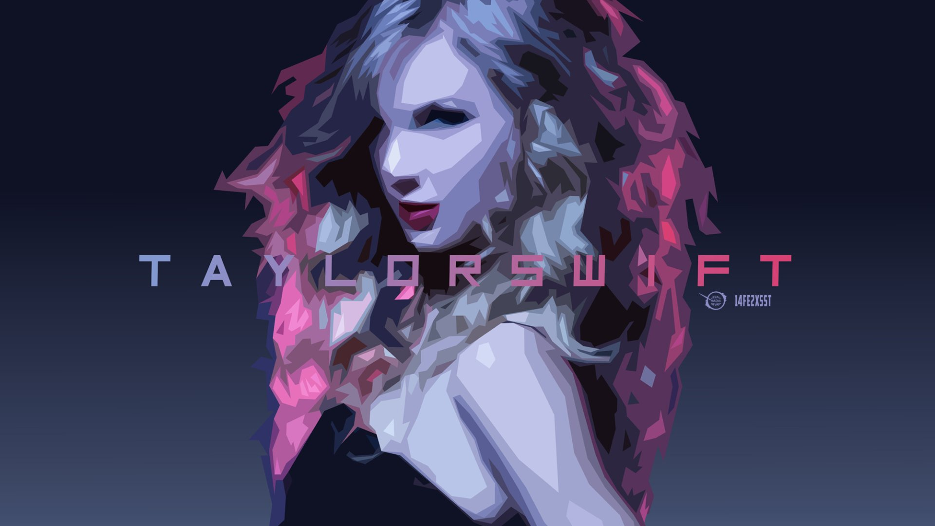Music - Taylor Swift  Celebrity Music Portrait Artwork Wallpaper