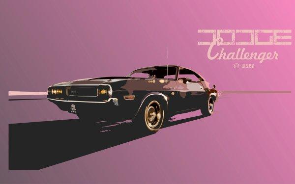 Vehículos Dodge Challenger Dodge Coche Retro Vintage Fondo de pantalla HD | Fondo de Escritorio