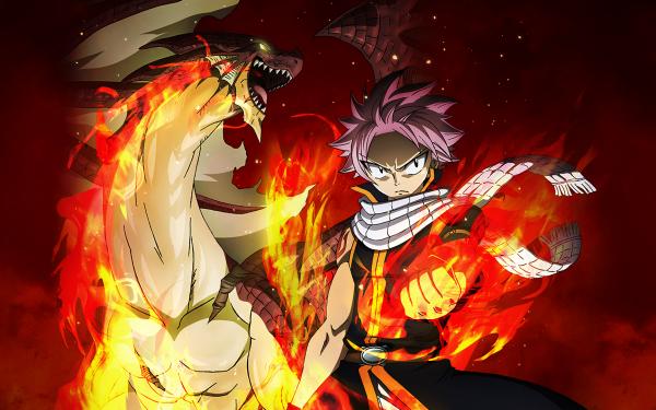 Anime Fairy Tail Natsu Dragneel Igneel HD Wallpaper | Background Image