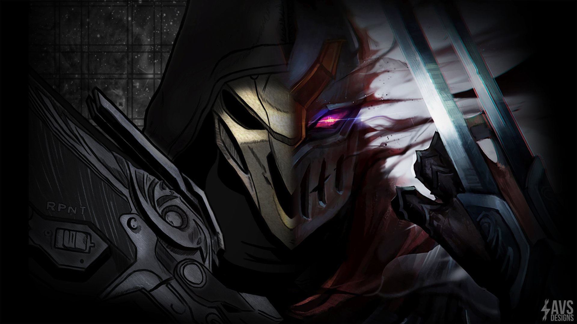 Video Game - Crossover  Overwatch League Of Legends Reaper (Overwatch) Zed (League Of Legends) Wallpaper