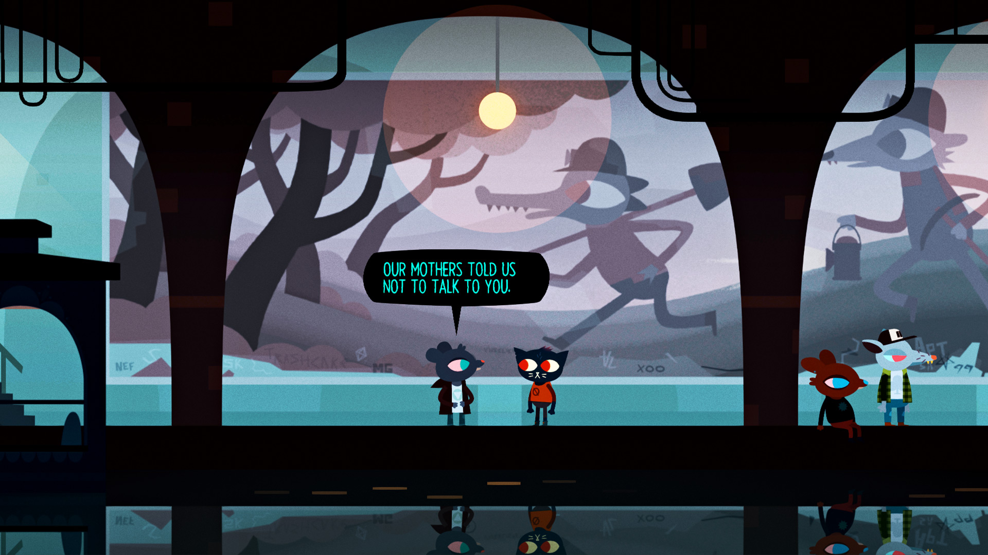 Night In The Woods Hd Wallpaper Background Image 1920x1080