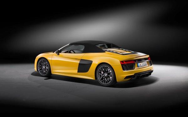Vehicles Audi R8 Audi Audi R8 Spyder Car Yellow Car Sport Car HD Wallpaper | Background Image