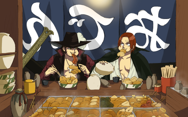 Anime One Piece Dracule Mihawk Shanks Fondo de pantalla HD | Fondo de Escritorio
