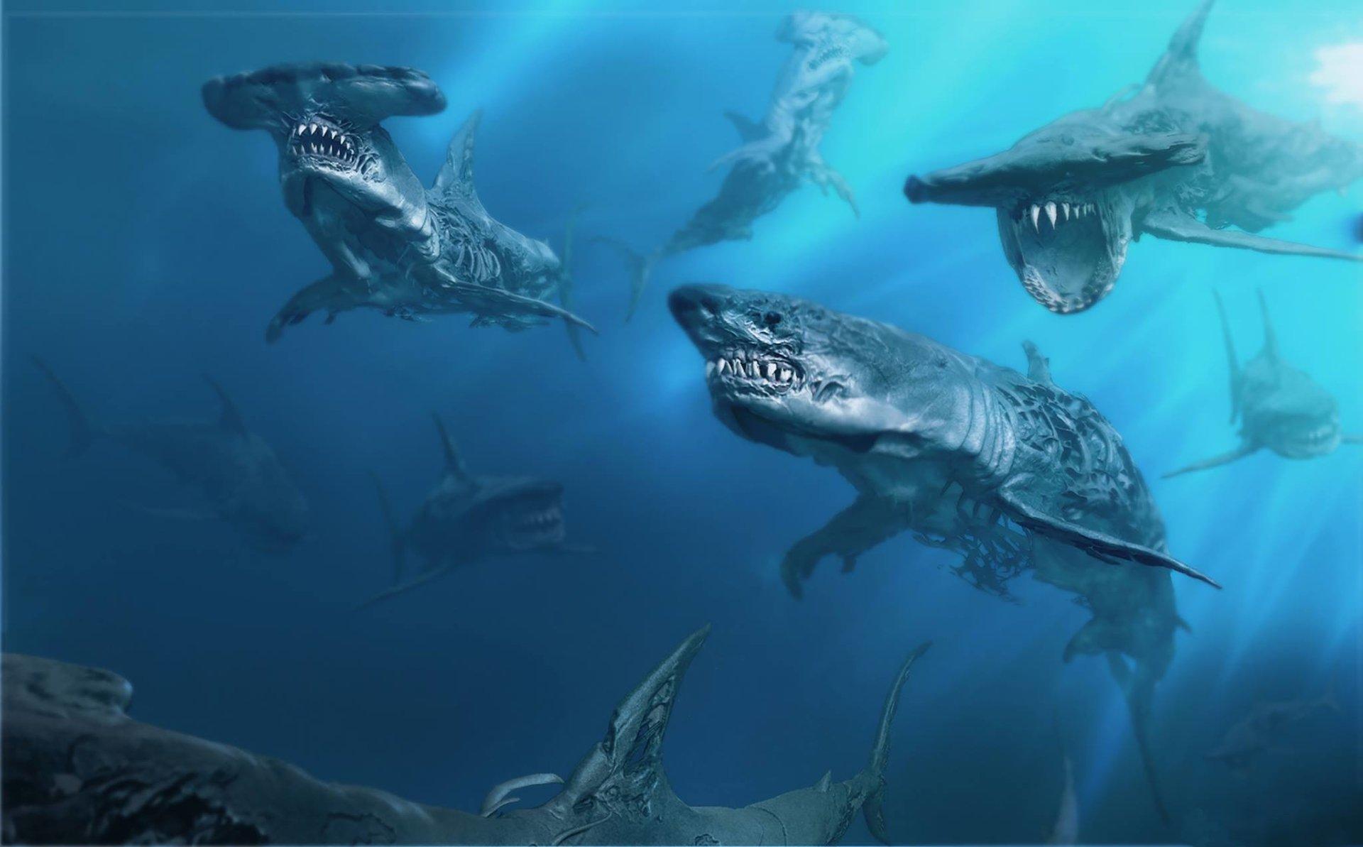 Movie - Pirates Of The Caribbean: Dead Men Tell No Tales  Shark Wallpaper