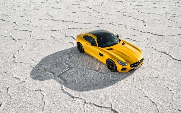 Vehicles Mercedes-Benz AMG GT Mercedes-Benz Car Sport Car Yellow Car HD Wallpaper | Background Image