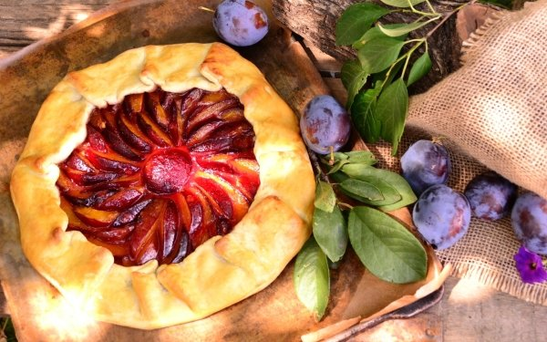 Food Pie Still Life Pastry Fruit Plum HD Wallpaper   Background Image