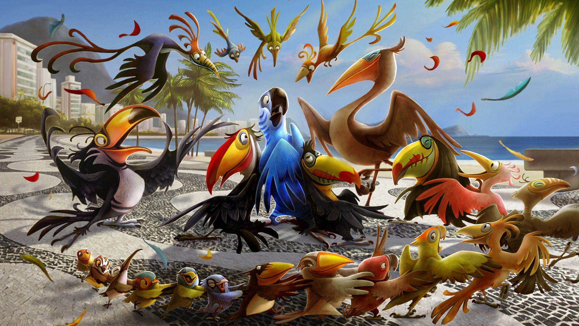 Rio 2 full hd wallpaper and background image 1920x1080 id812735 movie rio 2 wallpaper download voltagebd Choice Image