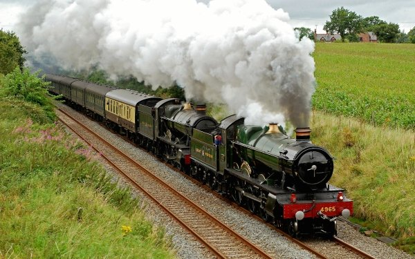 Vehicles Train Locomotive Smoke HD Wallpaper | Background Image