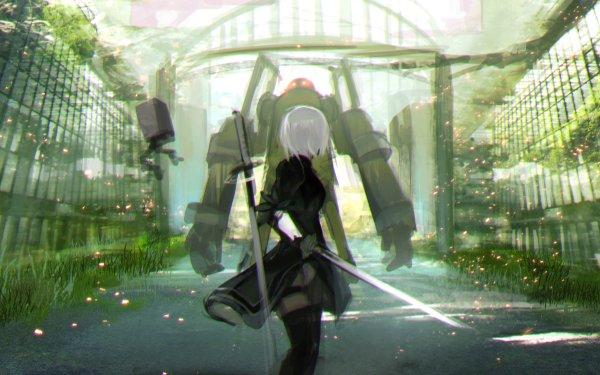 Video Game NieR: Automata YoRHa No.2 Type B HD Wallpaper | Background Image