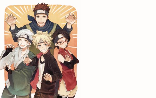 Anime Boruto Naruto Sarada Uchiha Boruto Uzumaki Mitsuki Konohamaru Sarutobi HD Wallpaper | Background Image