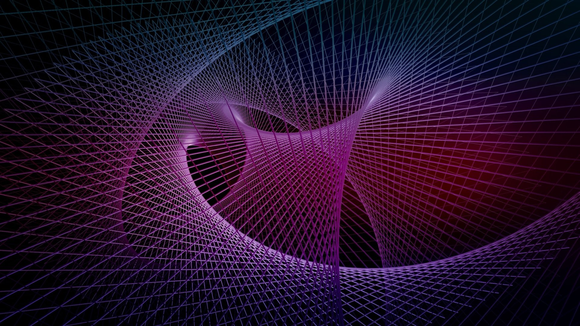 Abstract - Fractal  Purple Geometry Wallpaper