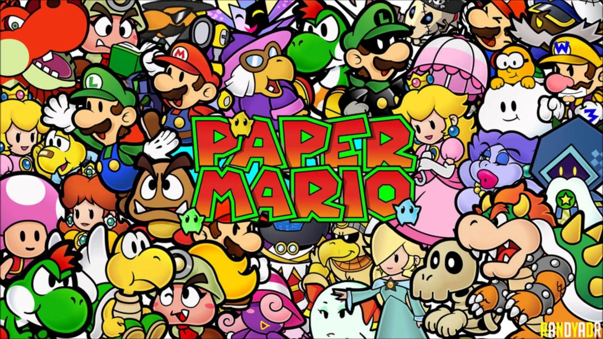 Paper Mario Hd Wallpaper Background Image 1920x1080 Id 821496