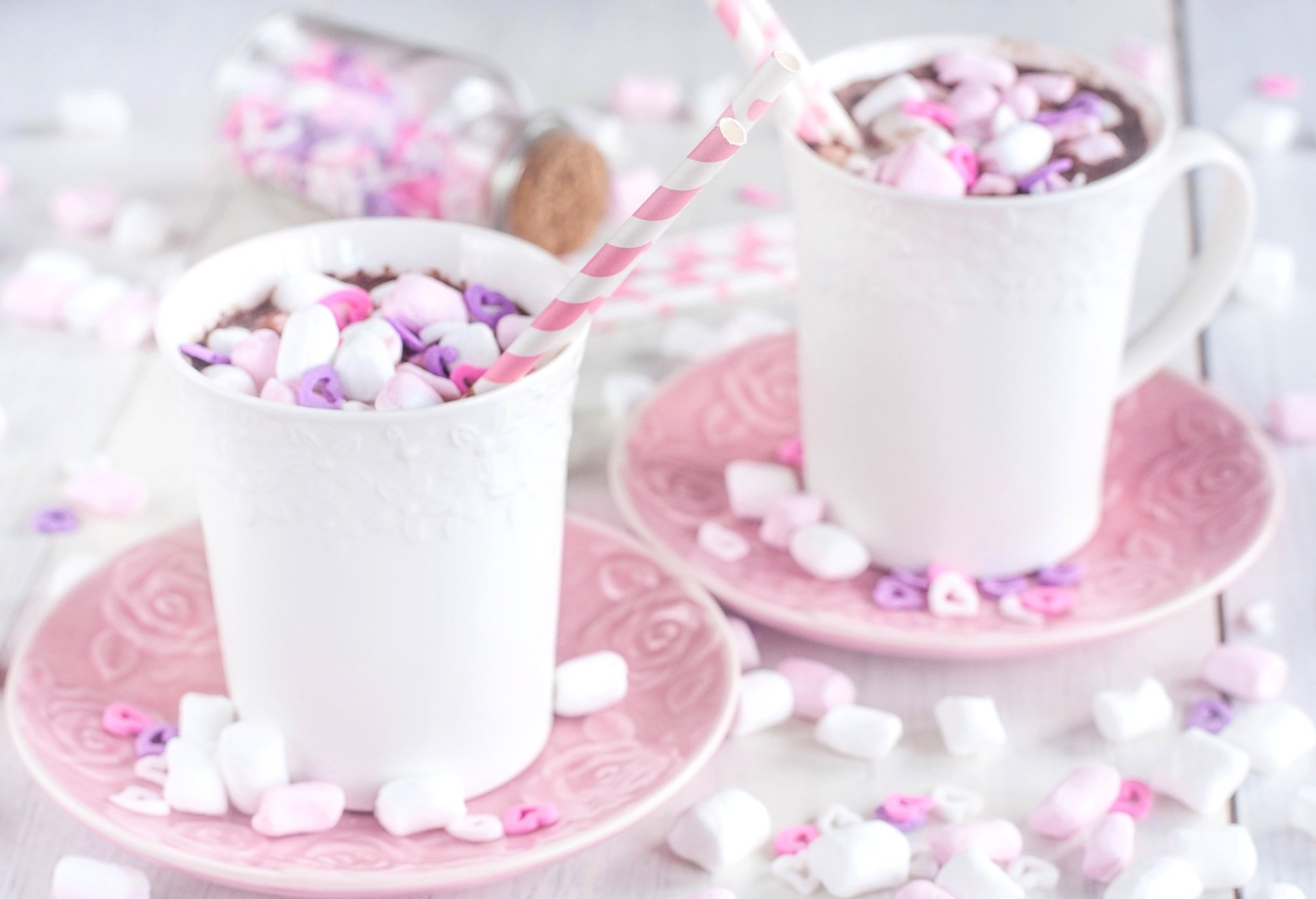 Food - Hot Chocolate  Cup Candy Marshmallow Wallpaper