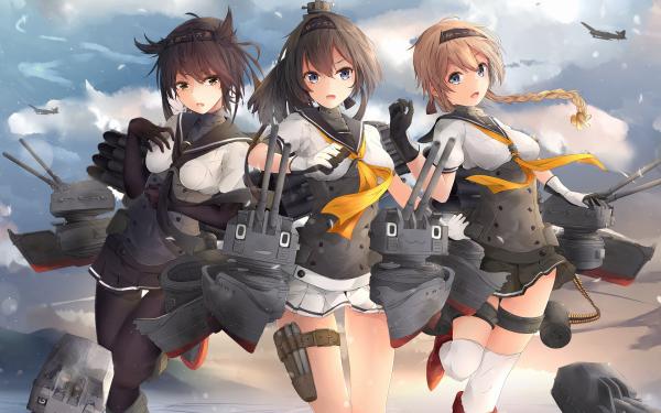 Anime Kantai Collection Hatsuzuki Teruzuki Akizuki HD Wallpaper   Background Image
