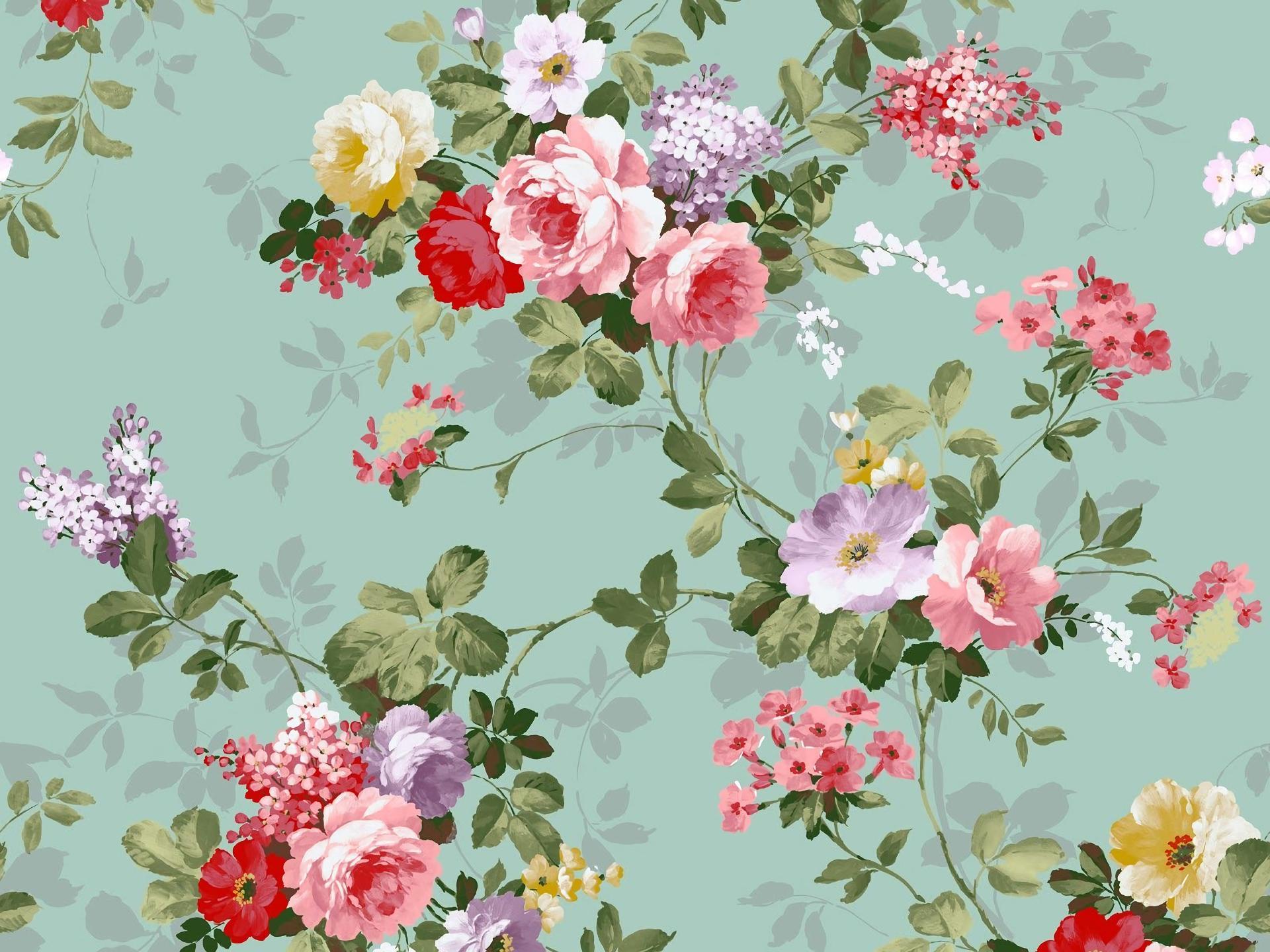 Vintage Flower Design Hd Wallpaper Background Image 1920x1440